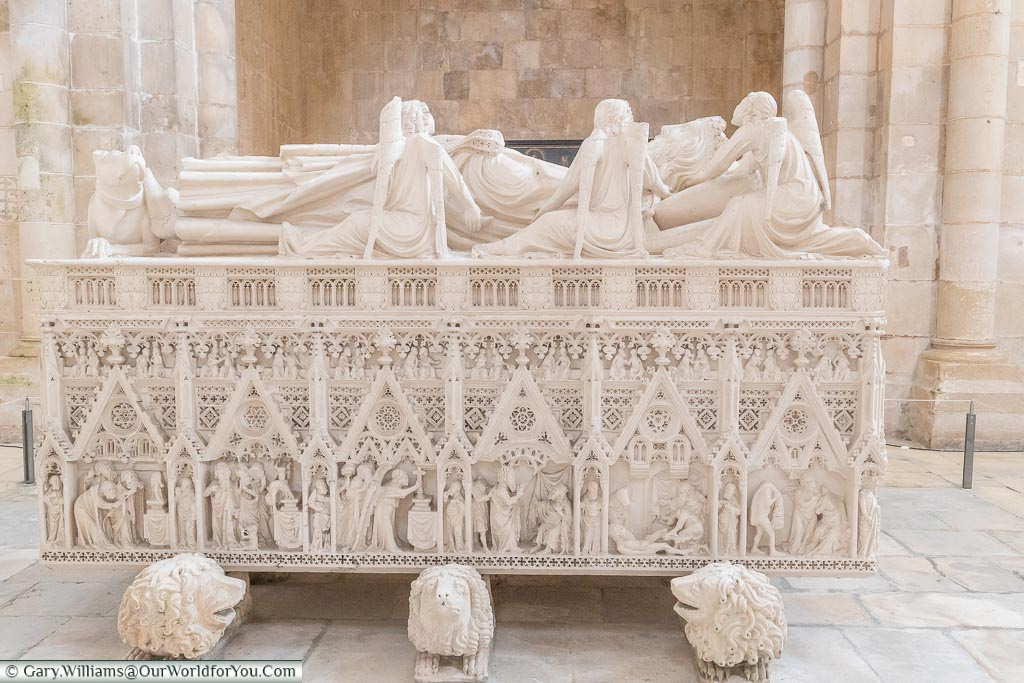 The Tomb of Pedro I, Monastery of Alcobaça, Portugal