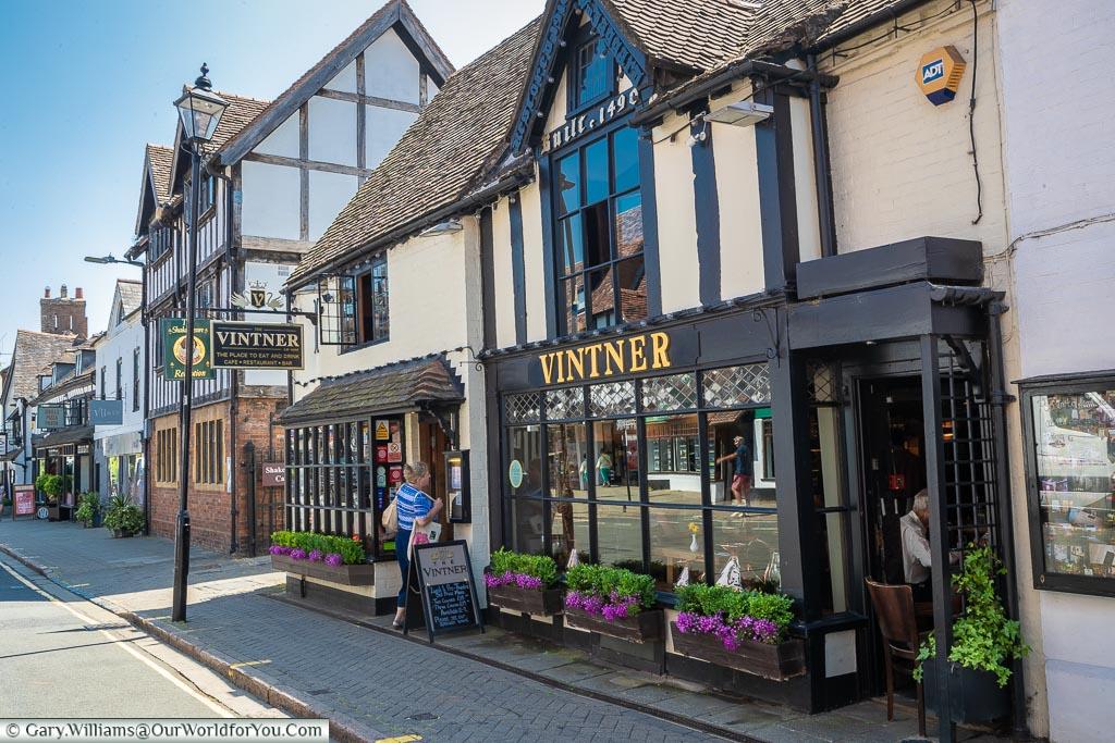 The Vintner Restaurant, Stratford-upon-Avon, Warwickshire, England, UK