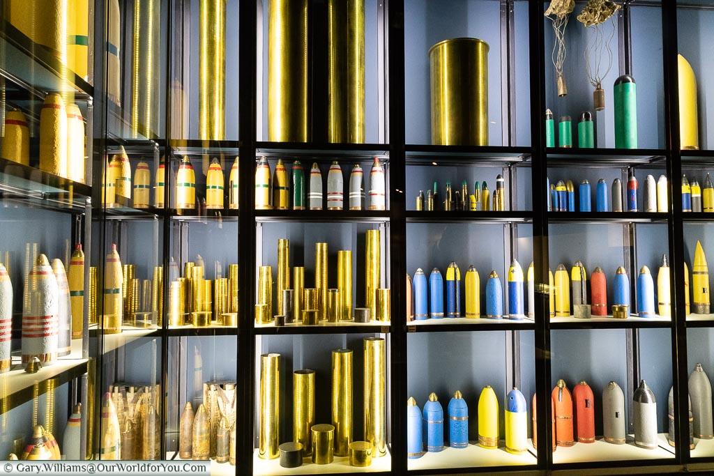 The different shells, Passchendaele, Belgium