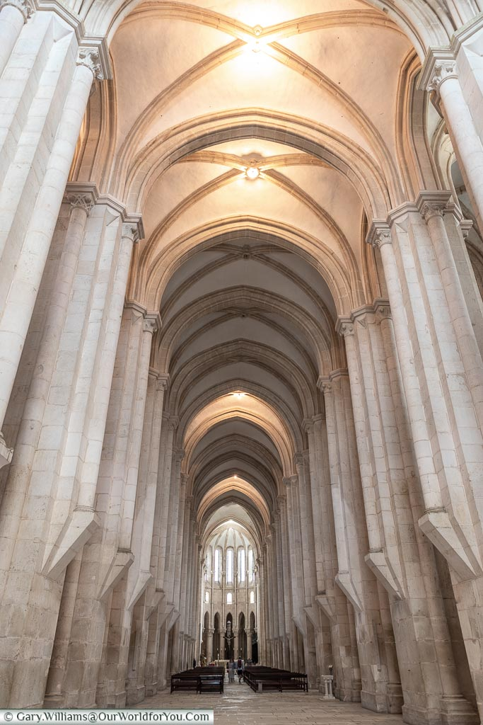 The nave, Monastery of Alcobaça, Portugal