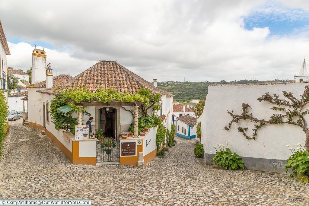 The town - quietening down, Óbidos, Portugal