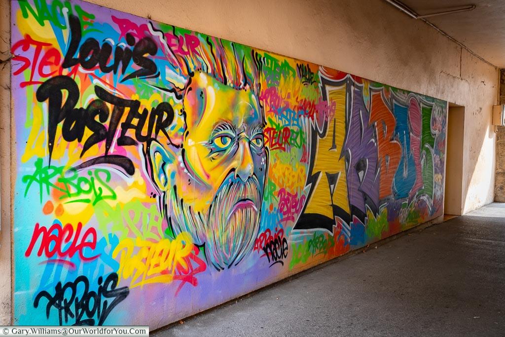 Louis Pasteur mural, Arbois, France
