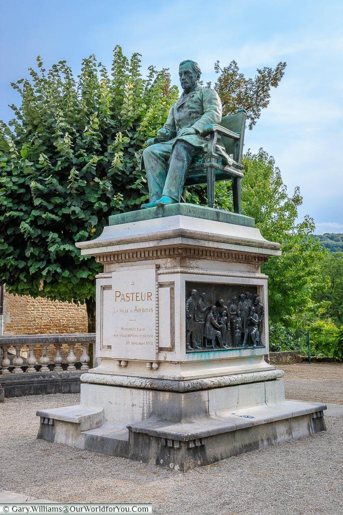 Louis Pasteur statue, Arbois, France