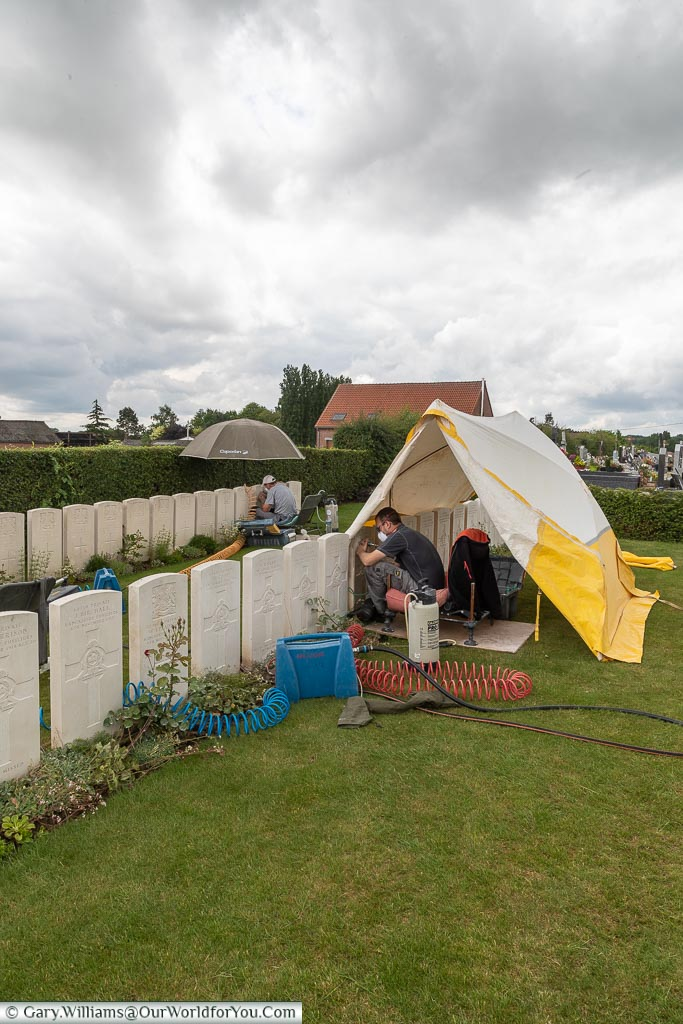 Maintaining the graves, Ors, France