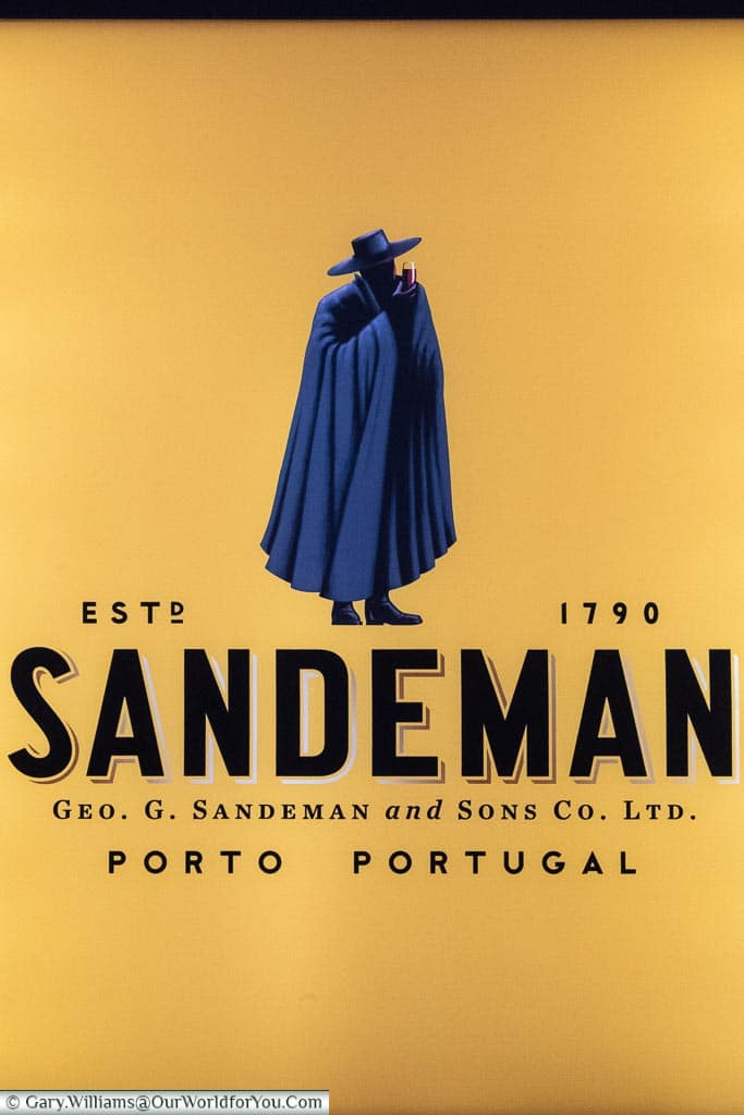 The Sandeman logo, Porto, Portugal