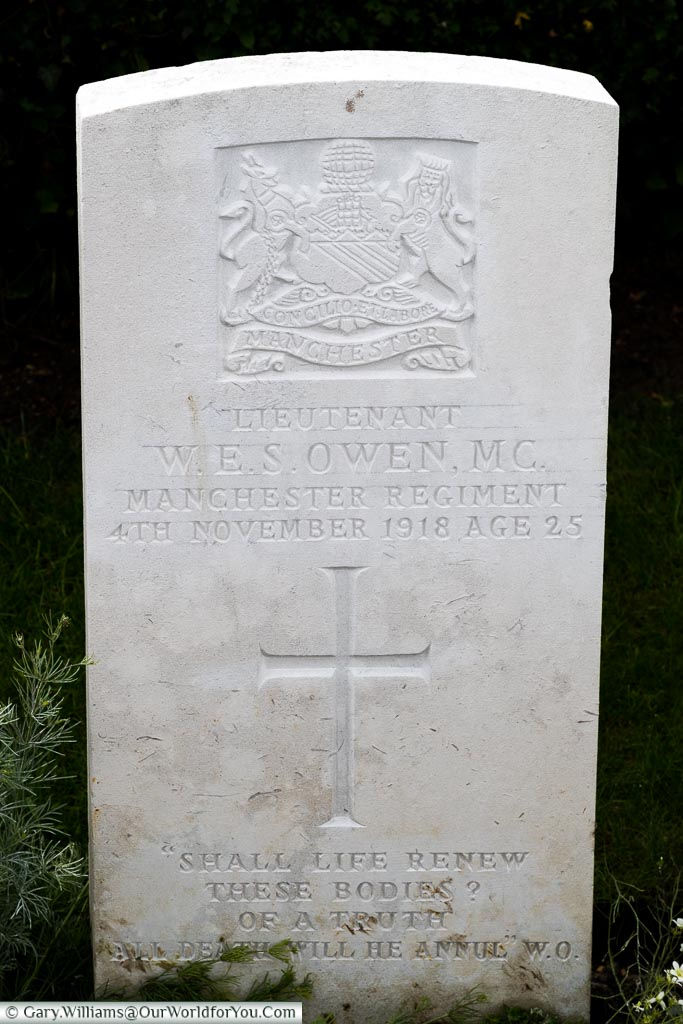 Wilfred Owen's Headstone, Ors, France