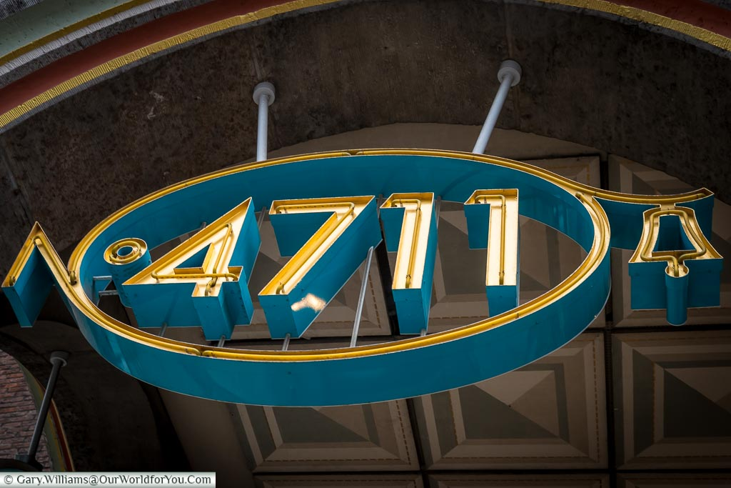 The number 4711 logo in the archway to the 4711 fragrance museum.  Another must see, and smell, whilst in Cologne for Christmas