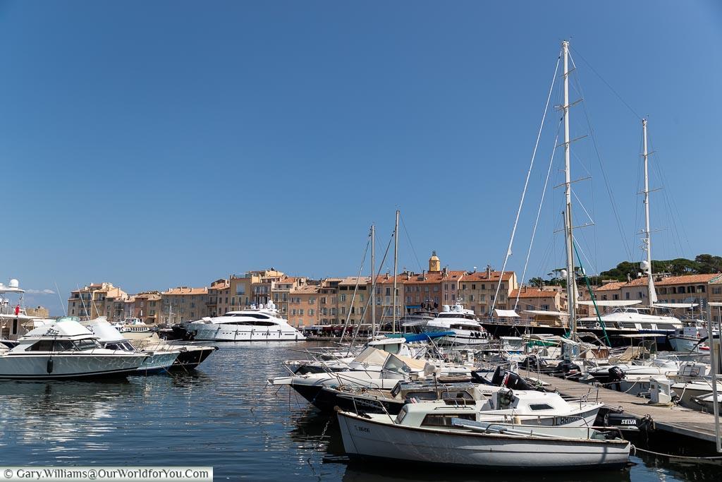 Across the harbour, St Tropez, France