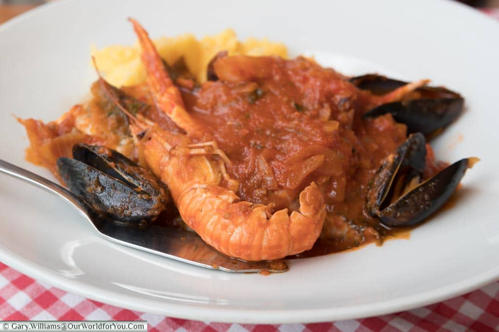 Brodet, typical Croatian sea food, Croatia
