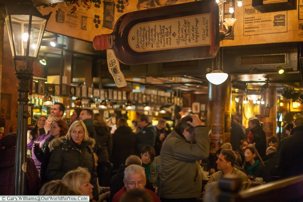 The bustling scene inside Papa Joe's Biersalon, a traditional star pub in the centre of Cologne.