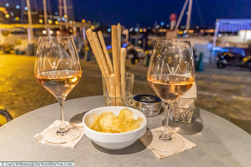 Nightcap at Welcome Hotel, Villefranche-sur-Mer, France