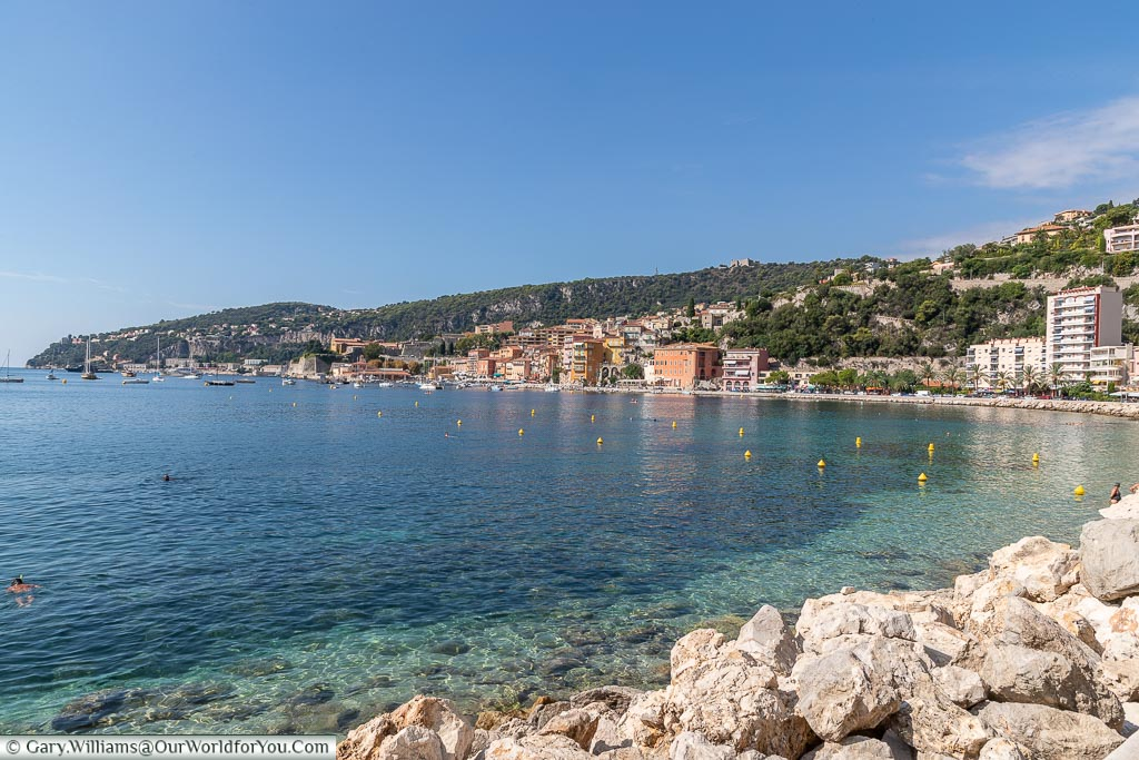 The beautiful bay, Villefranche-sur-Mer, France