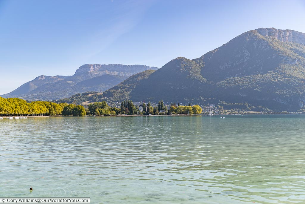 The mountains across the lake, Annecy, France