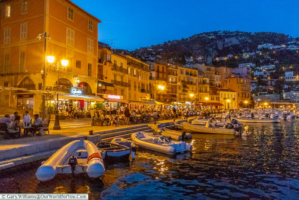 The promenade in the evening, Villefranche-sur-Mer, France