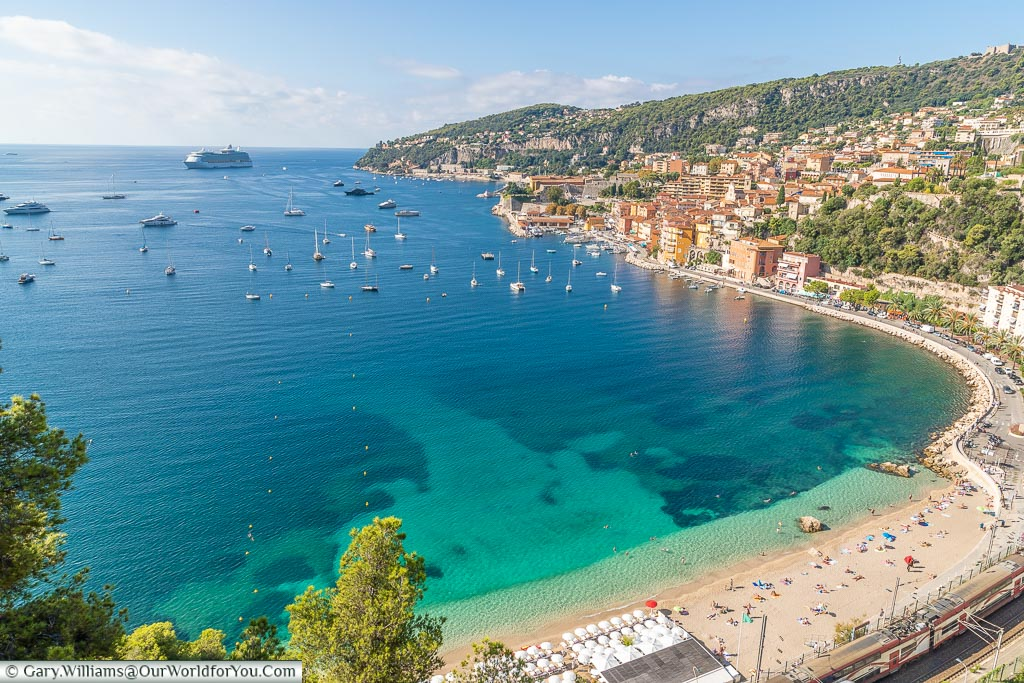 The view over, Villefranche-sur-Mer, France
