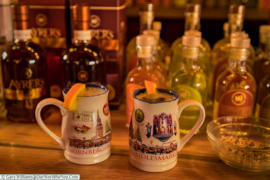 2 mugs of winter warmer, Nuremberg, Germany