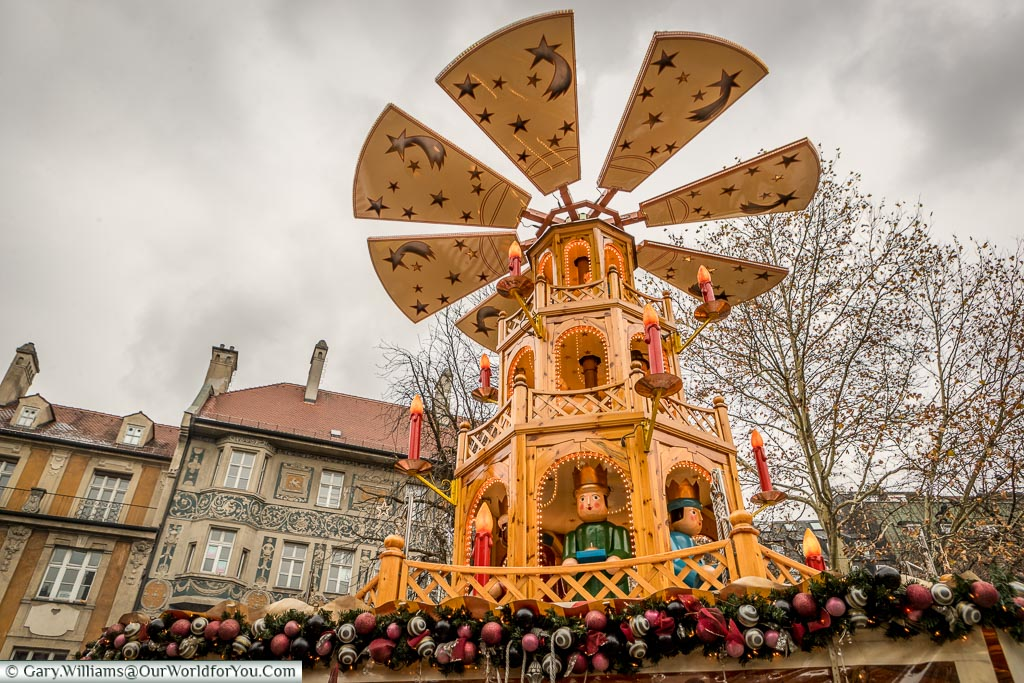 A full-size Christmas Pyramid, Munich, Germany