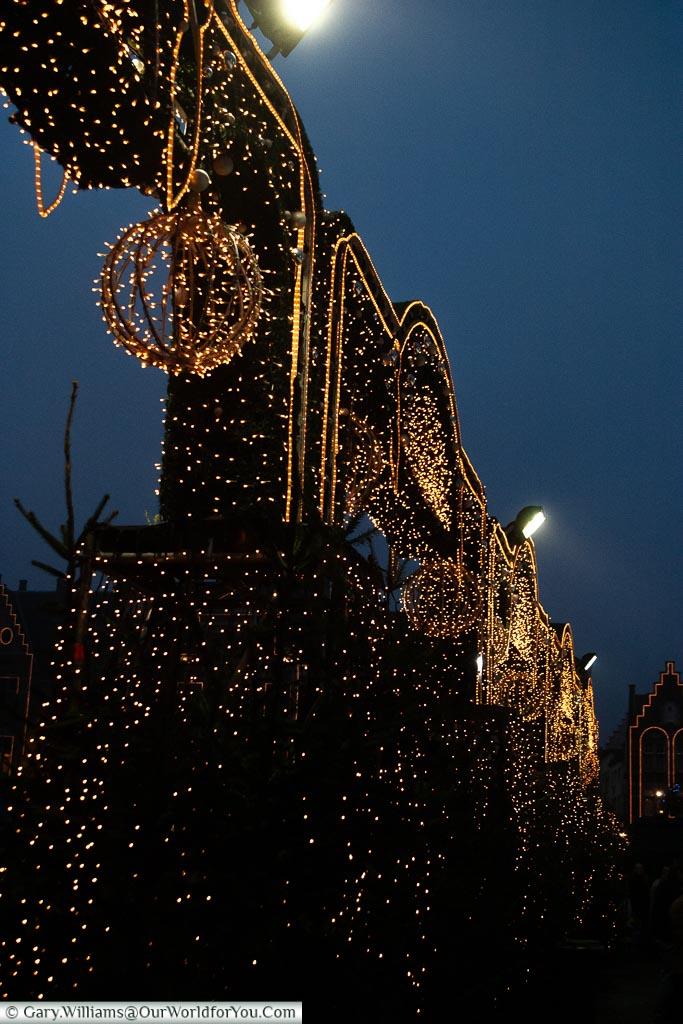 A thousand lights, Bruges, Belgium