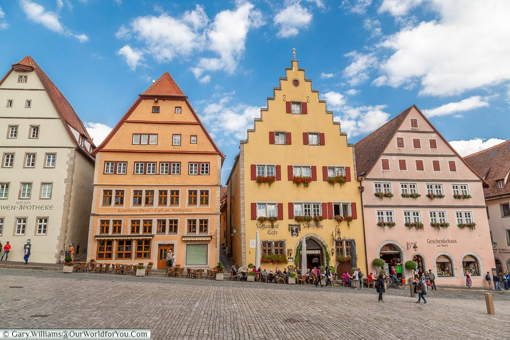 A typical view of Rothenburg ob der Tauber, Germany - part of gary's German ancestry