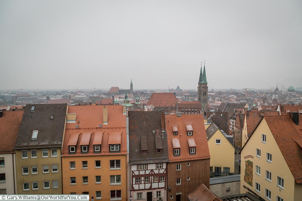A view across the city, Nuremberg, Germany
