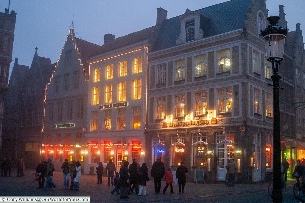 A winters eve, Bruges, Belgium