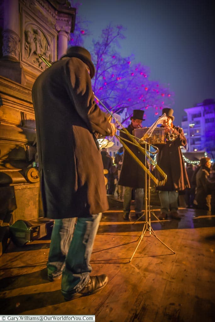 And the band played on at the Christmas Market, Cologne, Germany