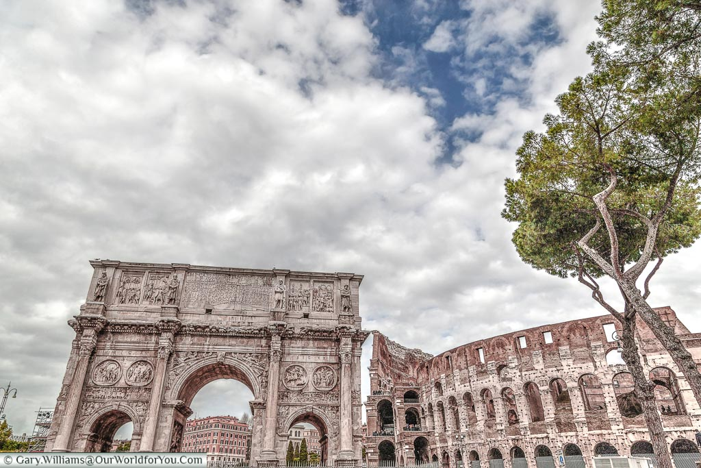 Arco di Costantino & the Colossuem, Rome, Italy