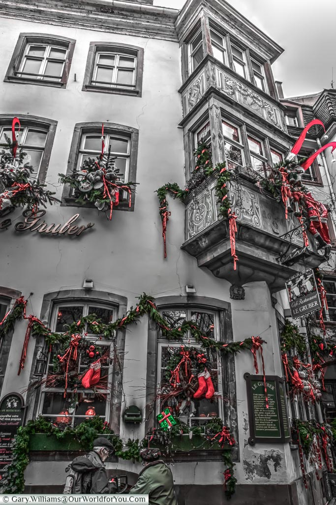 Decorated for Christmas, Strasbourg, France