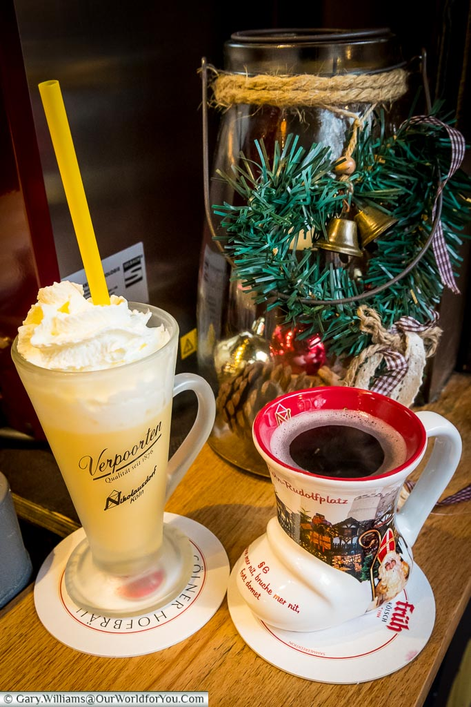 Eggnog and glühwein, Cologne, Germany