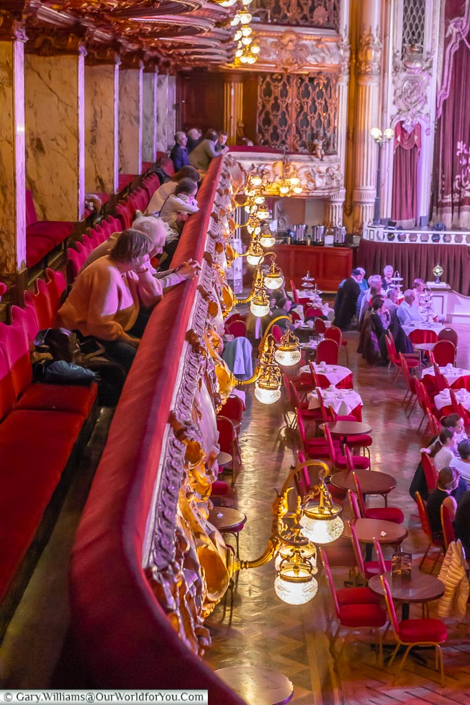 From the circle, Tower Ballroom, Blackpool, Lancashire, England, UK