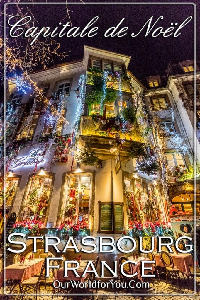 The pin image for our post - 'Glittering Streets of Strasbourg, France'