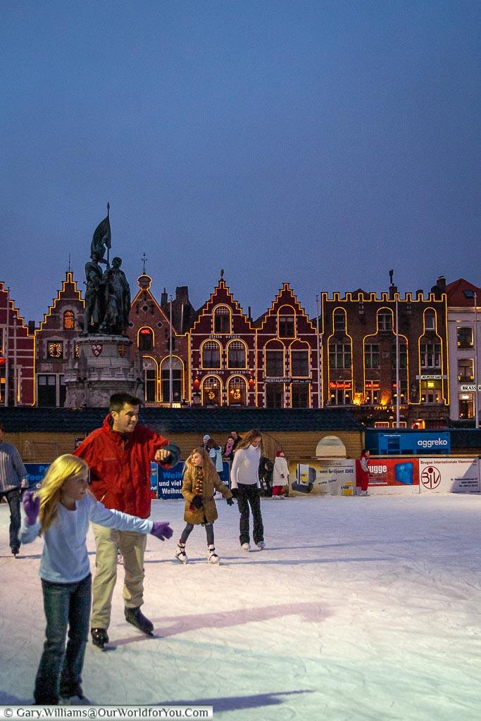 Ice skating, Bruges, Belgium