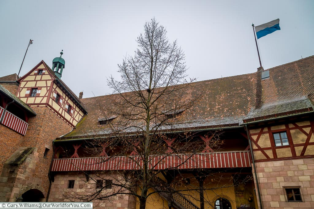 Inside the castle courtyard, Nuremberg, Germany