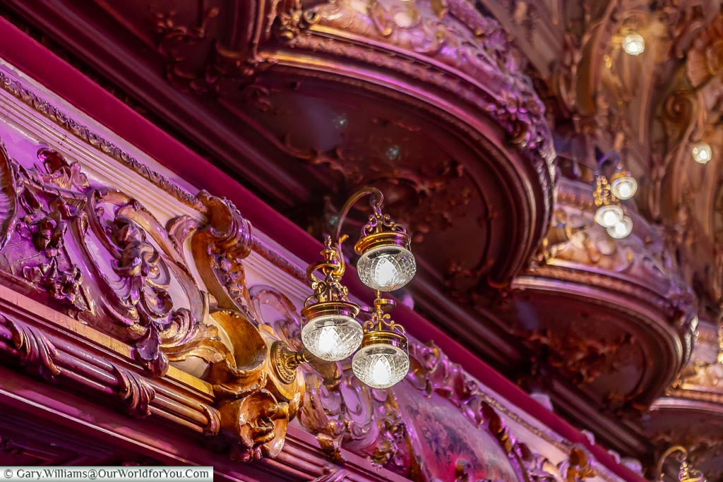 Looking up to the Gods, Tower Ballroom, Blackpool, Lancashire, England, UK