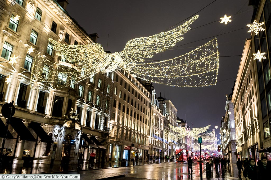 Regent Street Saint James's at Christmas, London, England, UK