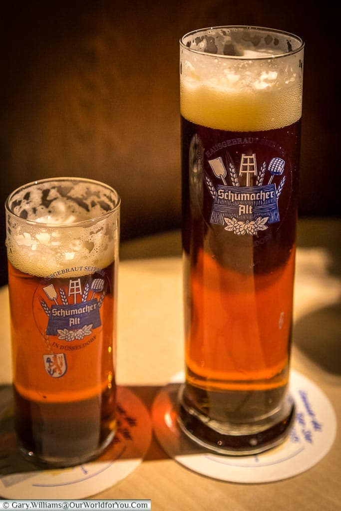 Schumacher Alt beer, Düsseldorf, Germany