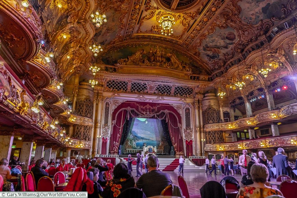 Sit back and enjoy, Tower Ballroom, Blackpool, Lancashire, England, UK