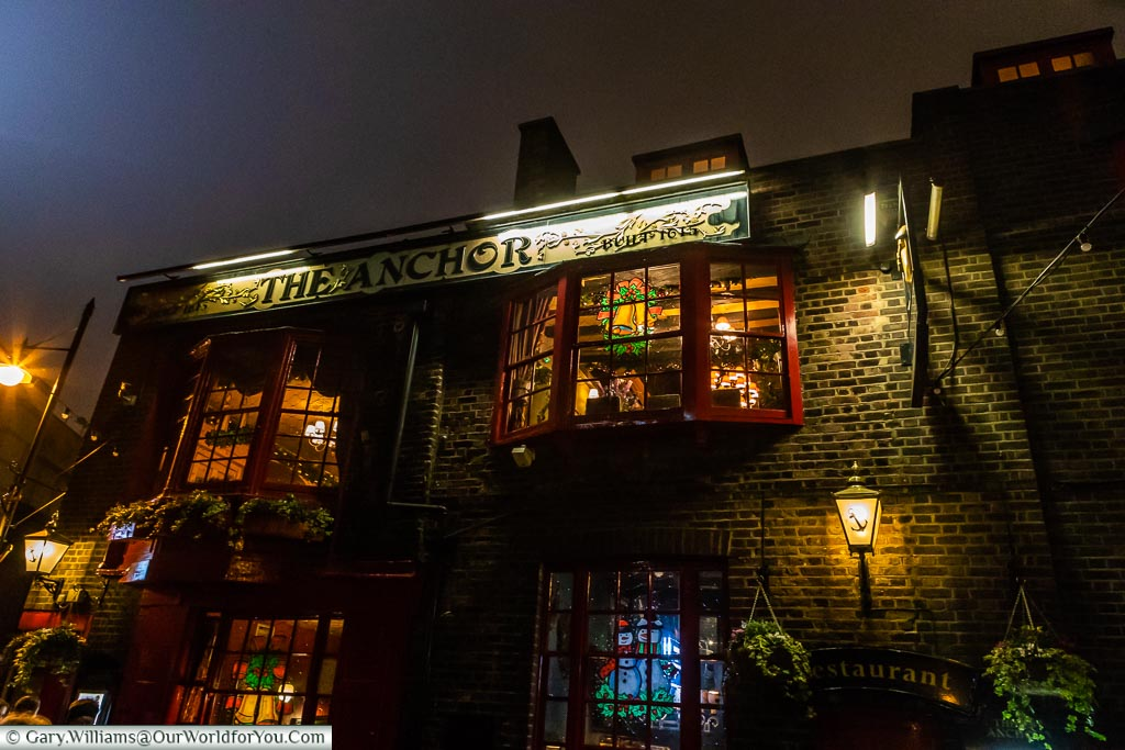 The Anchor Pub, London at Christmas, UK