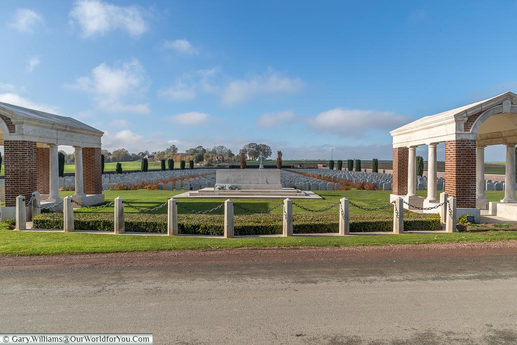 The Bancourt British Cemetery, France