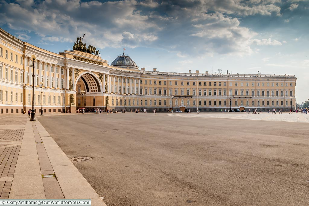 A view of the Hermitage Lecture Centre from Palace Square.