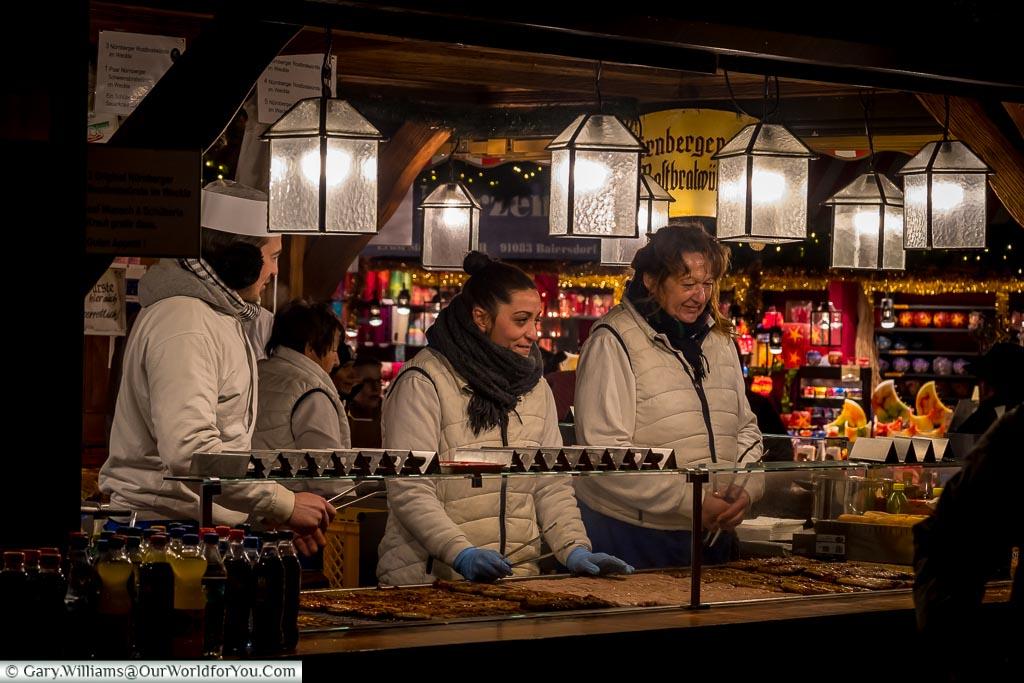 The Sausage sellers, Nuremberg, Germany