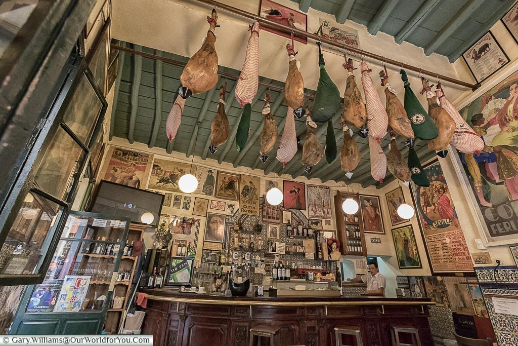 The bar of Casa Placido, Seville, Spain