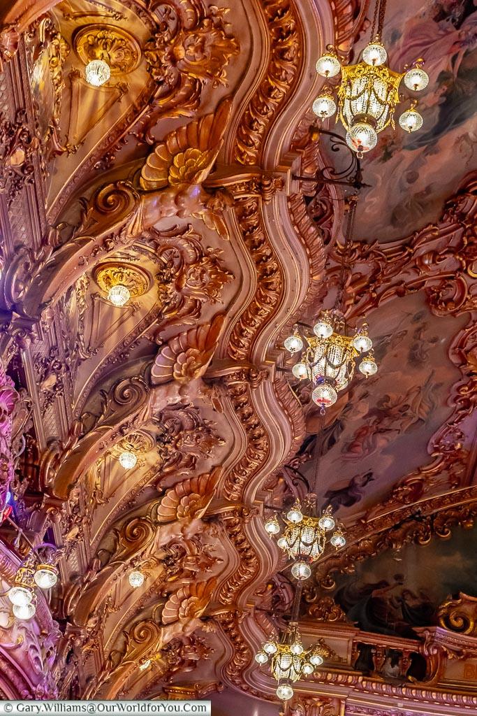 The chandeliers, Tower Ballroom, Blackpool, Lancashire, England, UK