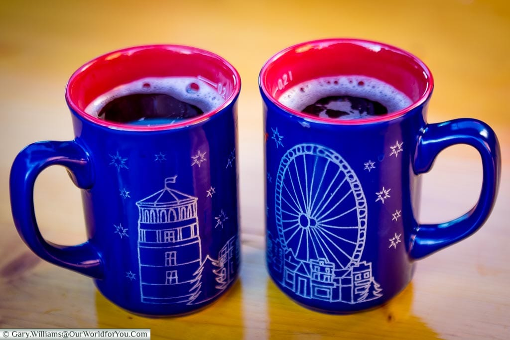 The first glühwein of 2016, Düsseldorf, Germany