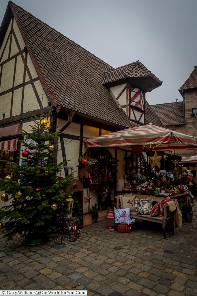 The half-timbered houses of the Craftsmens Courtyard, Nuremberg, Germany