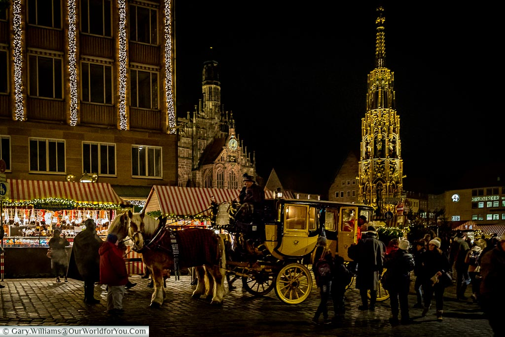 The horse and carriage in Nuremberg, Germany