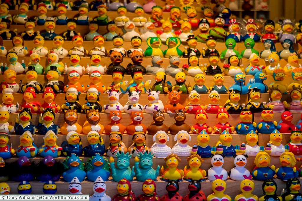 The rubber duck stall, Düsseldorf, Germany