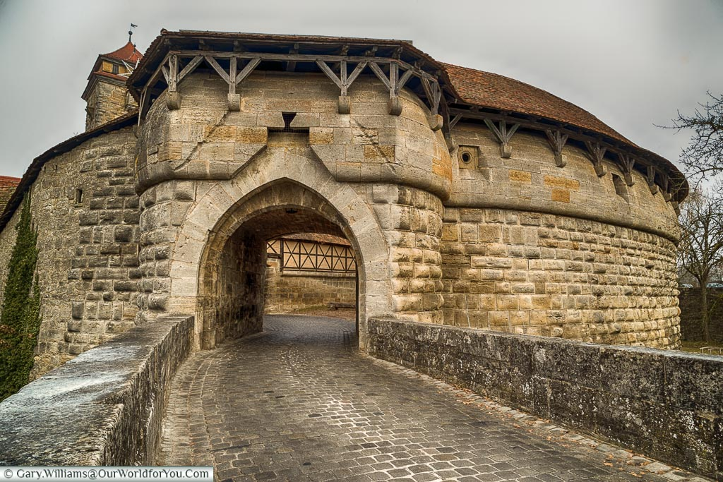 The southern entrance to Rothenburg ob der Tauber, Germany