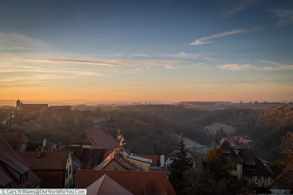 The views from our room, Rothenburg ob der Tauber, Germany