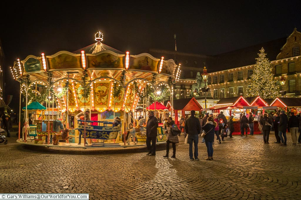 The vintage carousel, Düsseldorf, Germany